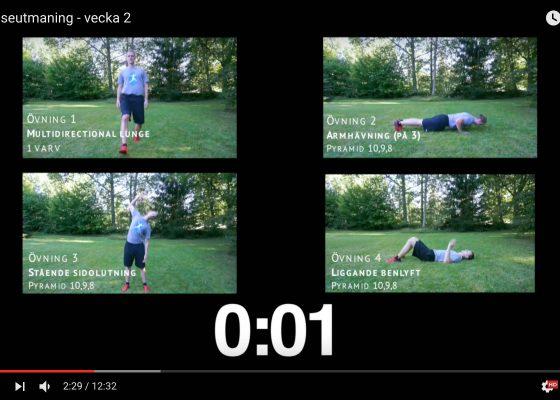 Rörelseutmaning – 10 minuters träning- Vecka 2